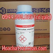 Sodium sulfate , NA2SO4 , NA2SO4 98,5% Samchun , Hàn Quốc
